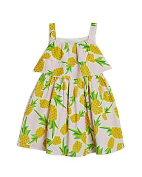 Pippa & Julie - Girls' Cotton Double Ruffle Pineapple Sundress - Little Kid