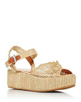 Clergerie - Women's Aimie Woven Platform Sandals