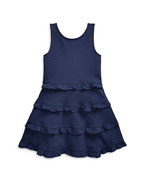 Ralph Lauren POLO RALPH LAUREN GIRLS' RUFFLE TIER DRESS - LITTLE KID