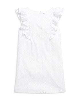 Ralph Lauren - Girls' Eyelet Ruffle Dress - Big Kid