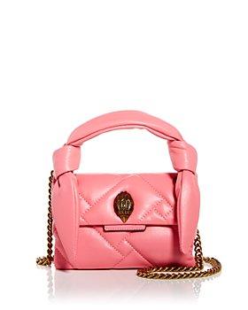 KURT GEIGER LONDON - Mini Kensington Leather Top Handle Bag