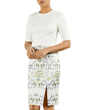 Ted Baker - Papyrus Fitted Combo Dress
