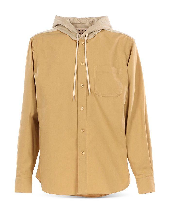 Marni - Contrast Hood Regular Fit Button Down Shirt