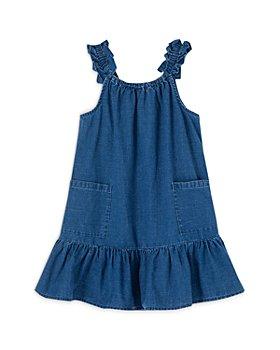 Peek Kids - Girls' Marni Ruffle Denim Dress - Little Kid, Big Kid