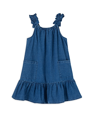 Peek Kids Girls' Marni Ruffle Denim Dress - Little Kid, Big Kid