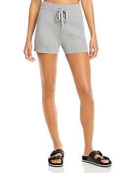 AQUA - Ribbed Drawstring Shorts - 100% Exclusive