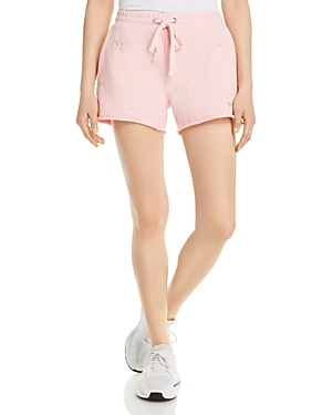 Aqua LIGHT PINK EMBROIDERED STAR JOGGER SHORTS - 100% EXCLUSIVE