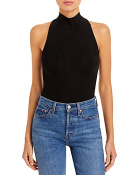 AQUA - Sleeveless Mock Neck Bodysuit - 100% Exclusive