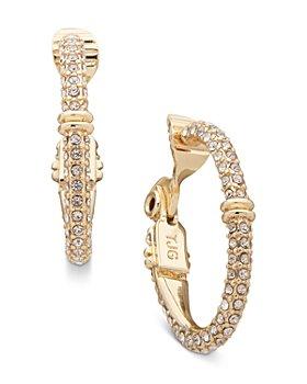 Ralph Lauren - Pavé Clip On Hoop Earrings