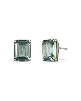 Ralph Lauren - Rose Gold-Tone Stone Square Stud Earrings