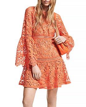 MICHAEL Michael Kors - Lace Bell Sleeve Mini Dress