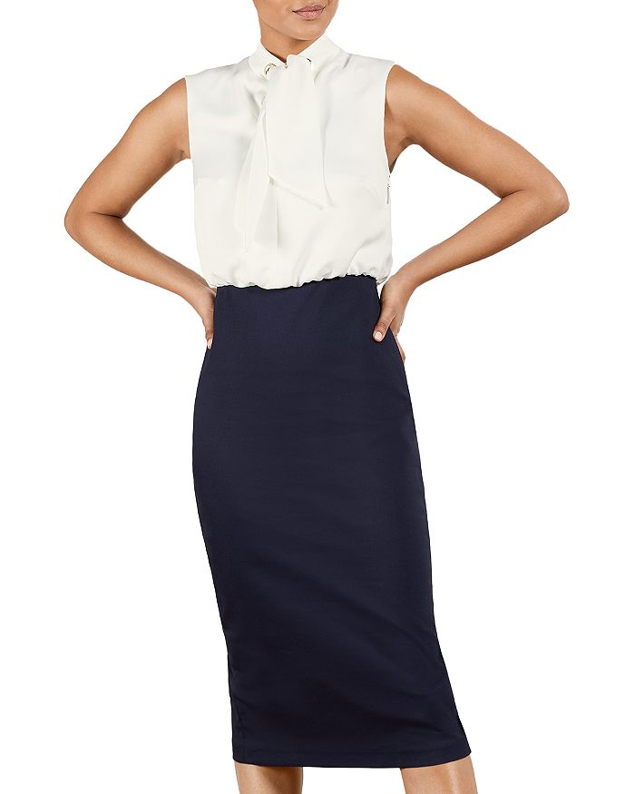 Ted Baker Dresses OATI MOCKABLE TIE DETAIL DRESS
