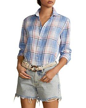 Ralph Lauren - Plaid Linen Button Down Shirt