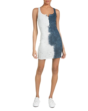 Runner Smoke Splatter Print Dress