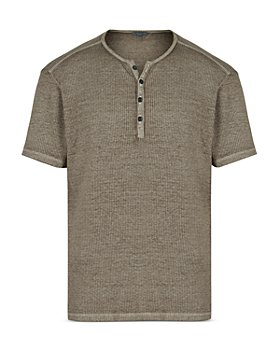 John Varvatos Collection - Slim Fit Ribbed Henley Tee