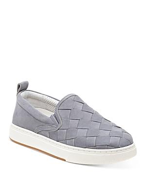 J/Slides Women's Junior Woven Nubuck Leather Loafer Sneakers