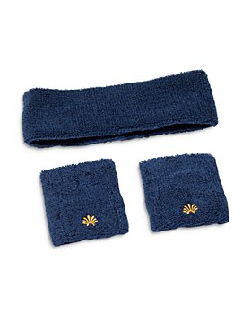 Lele Sadoughi - Terry Cloth Headband & Wristband Set