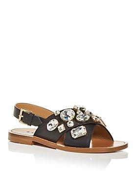 Marni - Women's Embellished Slingback Sandals