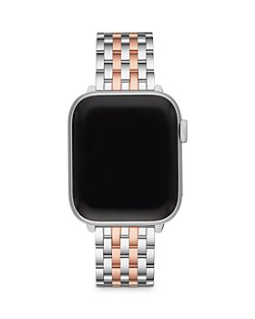 MICHELE - Apple Watch® Two Tone 18K Pink Gold Plated Stainless Steel Interchangeable Bracelet, 38-42mm