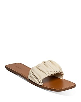 STAUD - Women's Nina Ruched Slide Sandals