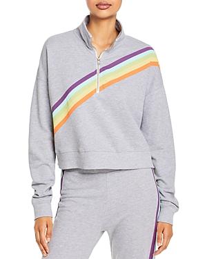 Wildfox Rainbow Print Half Zip Sweatshirt