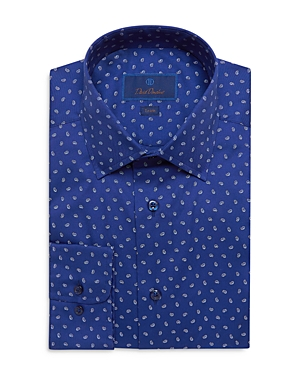 Cotton Paisley Print Trim Fit Dress Shirt