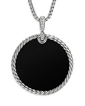 David Yurman - Sterling Silver DY Elements® Black Onyx & Diamond Pendant