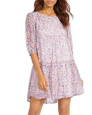 Free Spirit Floral Print Mini Dress