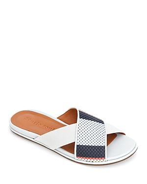 Women's Lark Crossover Leather & Elastic Slide Sandals