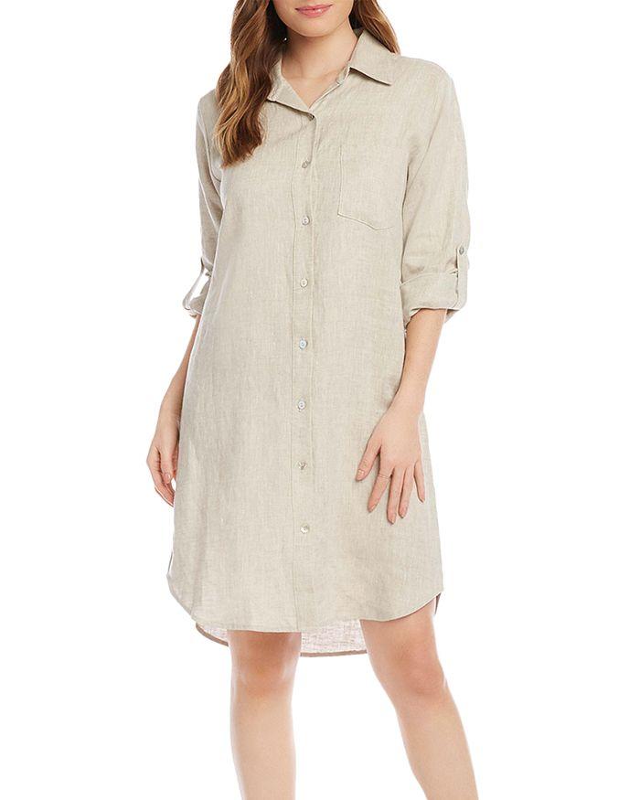 Karen Kane Linens LINEN SHIRT DRESS