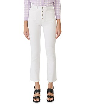 Maje - Passiona High Rise Jeans in White