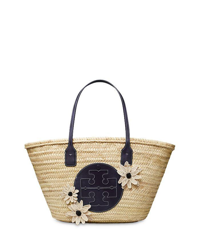 Tory Burch - Ella Floral Straw Basket Tote