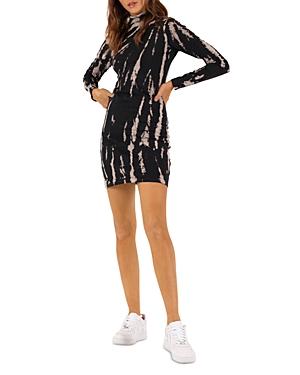 Pam & Gela Tie Dyed Knit Mini Dress