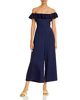 AQUA - Vita Off-the-Shoulder Jumpsuit - 100% Exclusive
