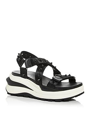 Ash Women's Sunny Studded Platform Wedge Sandals