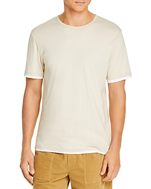 Vince T-shirts DOUBLE LAYER SHORT SLEEVE CREWNECK TEE