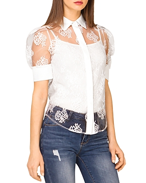 Sheer Lace Blouse (43% off)