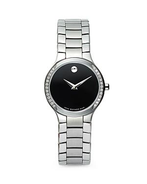 Movado Serio Stainless Steel & Diamond Watch, 26mm