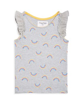 Sovereign Code - Girls' Lexie Rainbow Print Flutter Tank - Little Kid