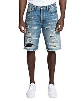 PRPS - Belen Ripped Jean Shorts in Indigo