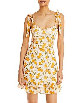 AQUA - Lemon Tree Ruffle Dress - 100% Exclusive