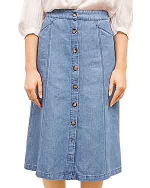 Lilou Denim Midi Skirt