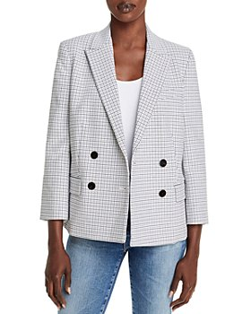 Theory - Shrunken Grid Print Jacket
