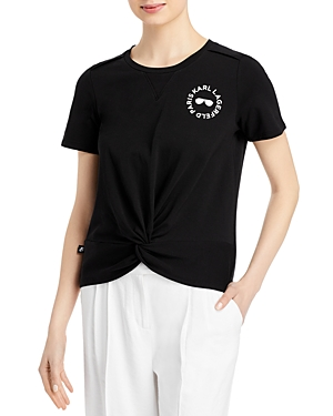 Karl Lagerfeld KNIT KNOT FRONT TEE