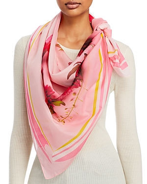 Boxed Floral Heart Scarf