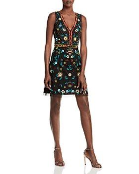 Aidan by Aidan Mattox - Bead & Sequin Embroidered Dress