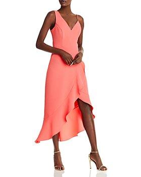 AQUA - Crepe Ruffle Dress - 100% Exclusive