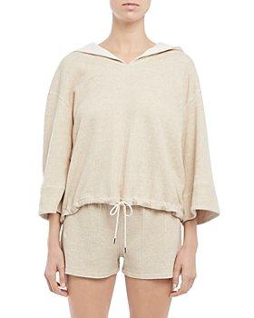 Theory - Drawstring Hooded Sweatshirt