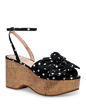 Kate Spade Leathers KATE SPADE NEW YORK WOMEN'S JULEP ANKLE STRAP WEDGE SANDALS