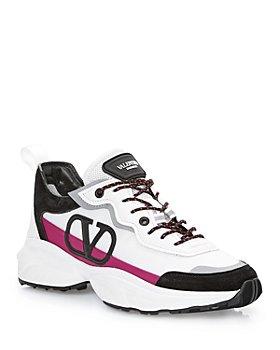 Valentino Garavani - Valentino Garavani Women's Shegoes Lace Up Low Top Sneakers